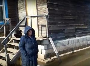 Жители затопленного села под Волгоградом просят у губернатора хлеба