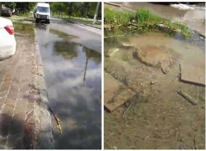 Больше месяца водой из колодца затапливает улицы на юге Волгограда