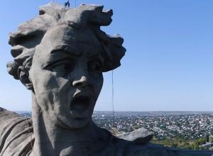 «Морщины» на лице «Родины-матери» попали в объектив квадрокоптера
