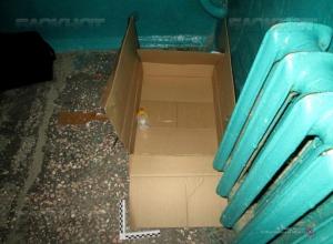Чтобы бросить младенца в коробке, «мать» приехала в Камышин на такси из другого города