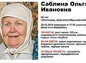 В Волгограде объявлен сбор добровольцев для поисков 85-летней пенсионерки
