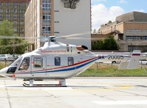 Первую сотню пациентов транспортировал волгоградский вертолет санавиации