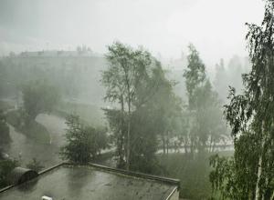 Град с ливнем и шквалистый ветер обрушились на Волгоградскую область