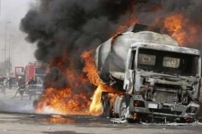В Волжском при пожаре на нефтепредприятии пострадали двое