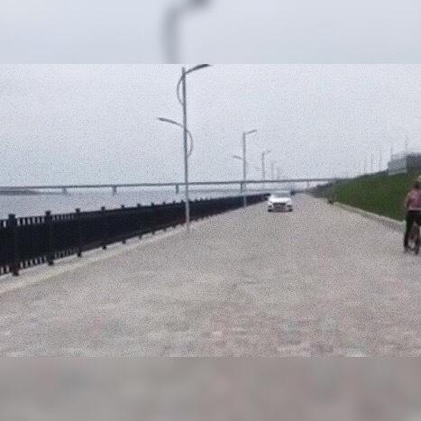 Нарушителя, проехавшегося по тротуару набережной Волгограда, наказали