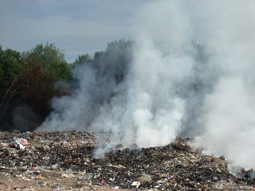 В Волгограде участились случаи возгорания свалок