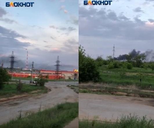Жуткий пожар у подножия Мамаева кургана попал на видео