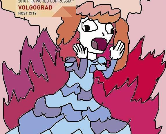 В Интернете рисуют карикатуры на плакат Волгограда к мундиалю-2018