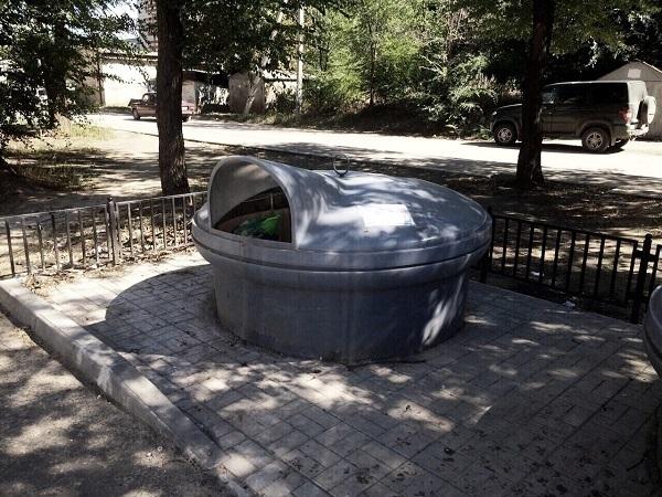 ВВолгоградской области началось использование подземных мусорных контейнеров