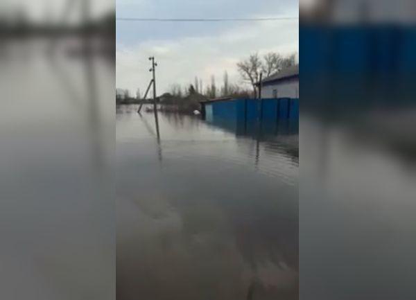 Накрывший жилые дома разлив реки Терса попал на видео в Елани