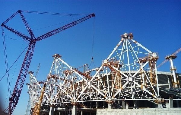 Строительство идет пографику: на«Волгоград Арене» возвели зрительские трибуны