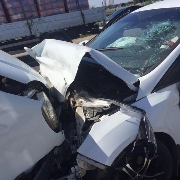Лобовое столкновение маршрутки № 246 и Ford под Волгоградом: 4 человека пострадали