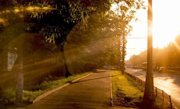 Солнечное утром сменится дождем в Волгограде