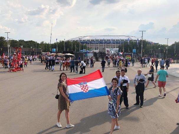 Олимпийские чемпионки из Волгограда гуляли по Москве с флагом Хорватии