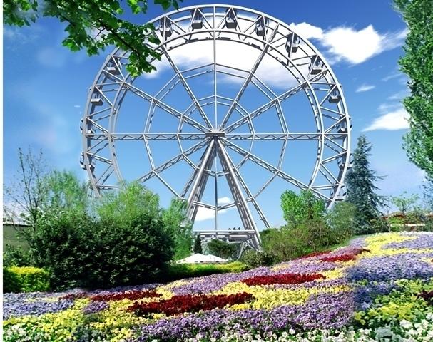 В основание нового колеса обозрения ЦПКиО Волгограда залили 250 кубометров бетона