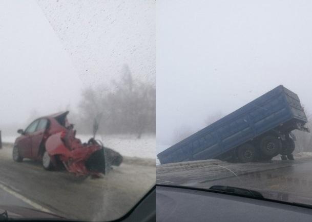 Женщина-водитель чудом выжила в жутком ДТП грузовика и KIA на трассе Волгоград-Сызрань: подробности аварии