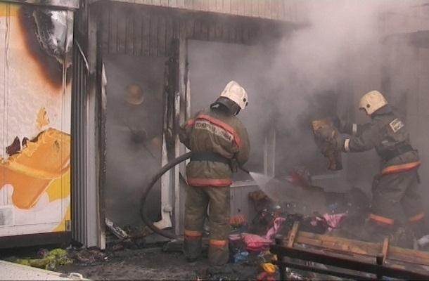 69-летняя пенсионерка пострадала на пожаре в волгоградском магазине