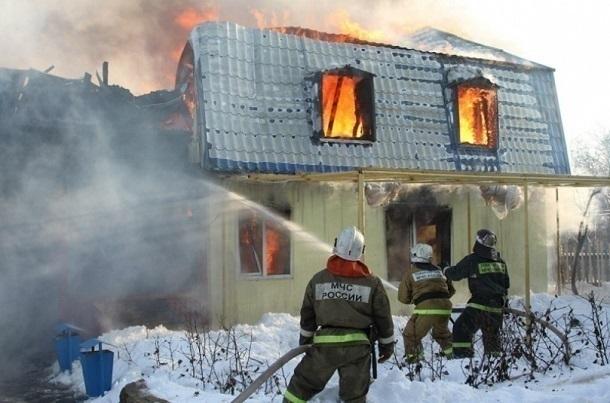 ВСреднеахтубинском районе всвоем доме сгорел мужчина