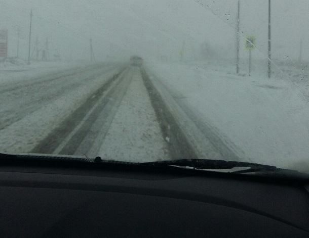 Трассу Волгоград-Москва засыпало снегом