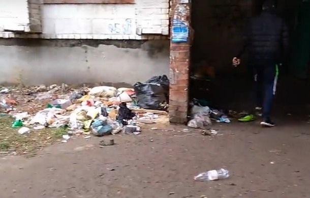 В Волгограде жильцы превратили свой дом в мусорную кучу