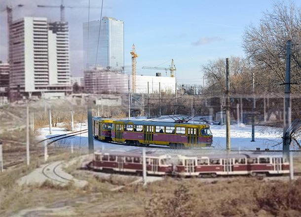 Тогда и сейчас: разворотное кольцо скоростного трамвая в Волгограде на площади Чекистов