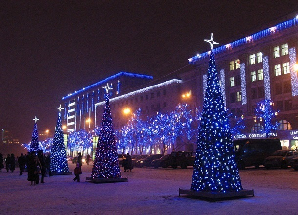 Волгоградские многоэтажки поборются за лучшее оформление к Новому году