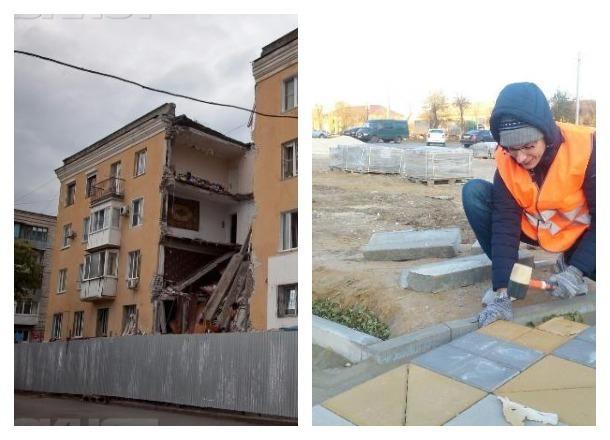 Место взорвавшегося в Волгограде дома закатывают в плитку