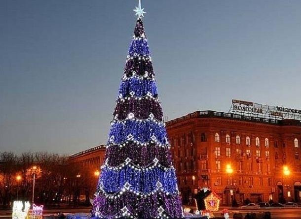 ВВолгограде на основной городской елке засияли неменее 10 тыс. лампочек