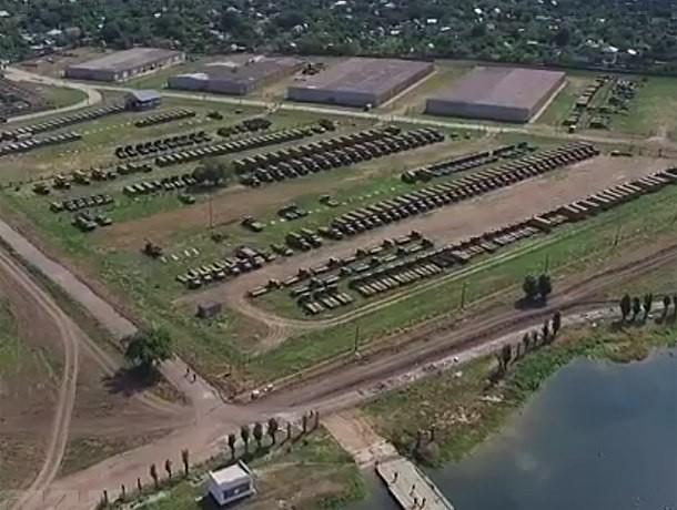 Квадрокоптер снял на видео секреты воинской части на острове Зеленый в Волжском