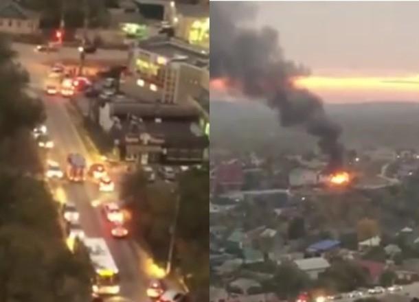 Названа причина трехчасового пожара в доме, к которому волгоградцы не пускали пожарных