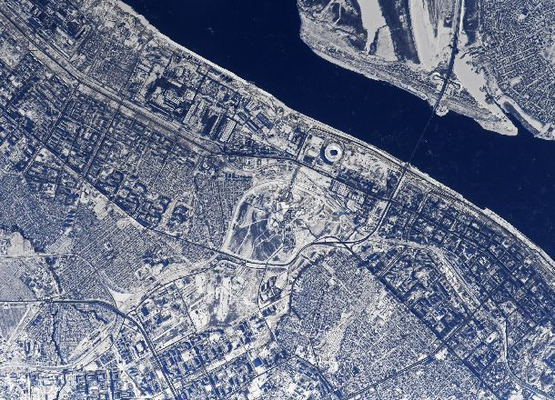 Космонавт Антон Шкаплеров обнародовал фото Самары изкосмоса