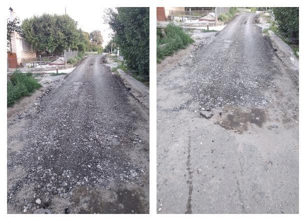Вместо обещанной дороги волгоградские власти положили около детского садика камни и асфальтовую крошку