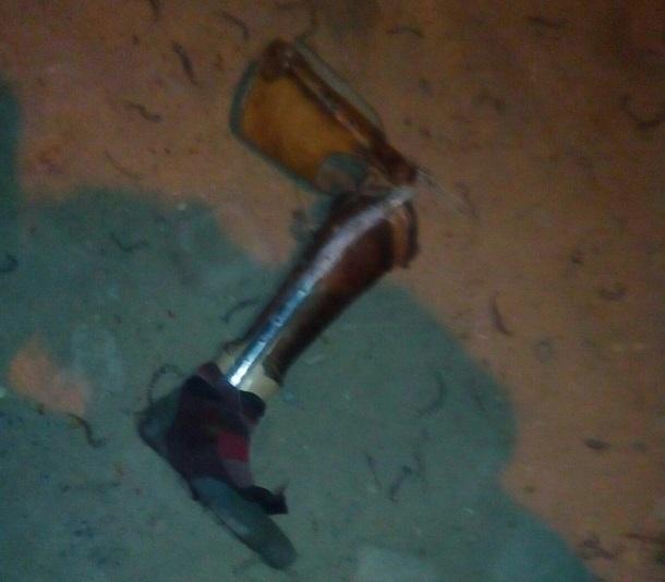 Оторванную искусственную ногу обнаружил на улице житель Волгограда