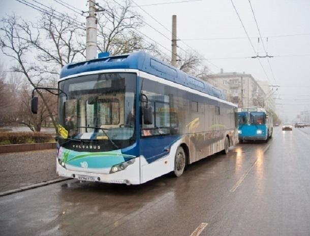 Электробус вышел на троллейбусный маршрут №10 в Волгограде