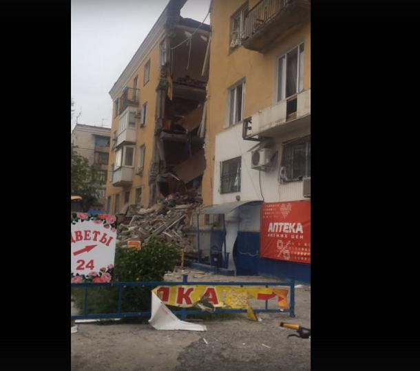 Последствия взрыва жилого дома в Волгограде попали на видео