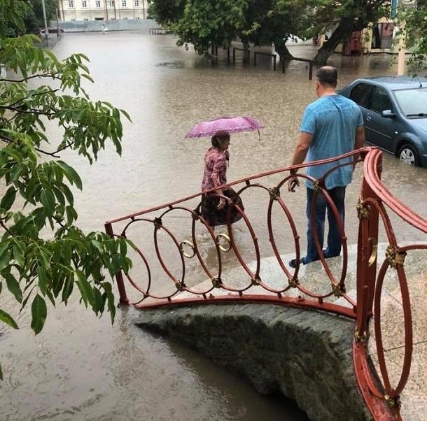 Публикуем фото затопленной Сарепты на юге Волгограда