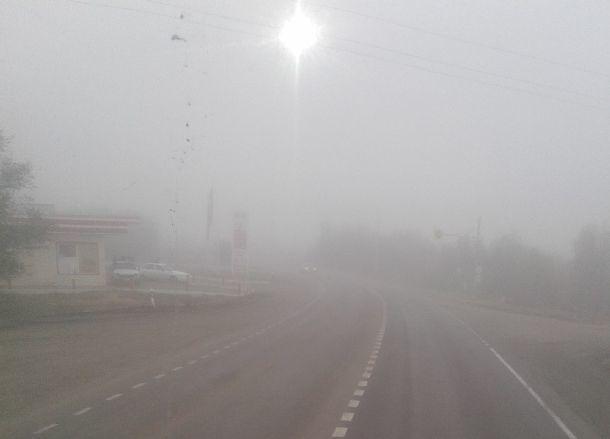 Волгоградцев предупреждают о плохой видимости из-за тумана на трассе