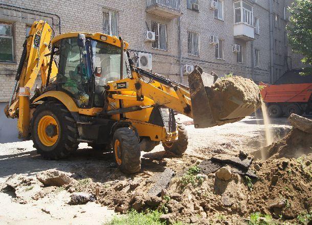 В центре Волгограда снова разрыли дороги