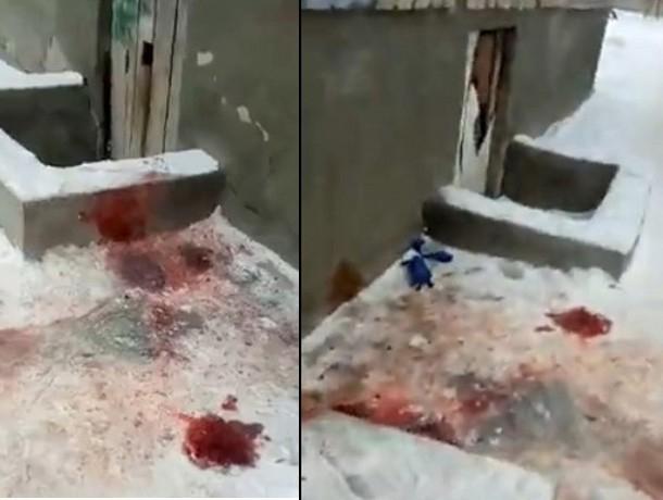 На видео попали следы кровавой бойни в новогоднюю ночь в Волжском