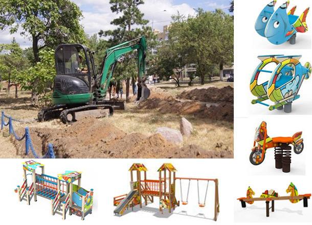 Качели-зверюшки и крутые детские городки: какие аттракционы установят в новом парке Волгограда