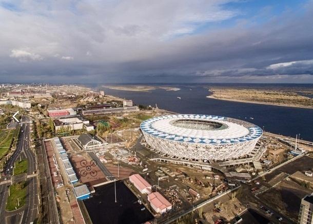ВВолгограде стадион «Волгоград-Арена» хотят красить всильный ветер