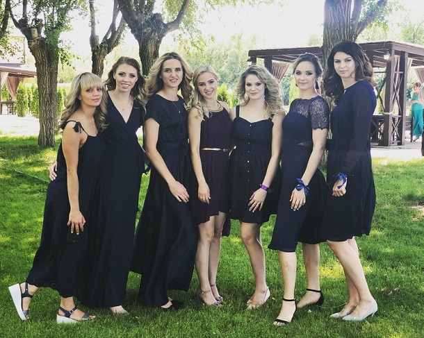 Красавицы из волгоградского «Динамо» оделись в элегантные черные платья