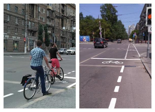 Волгоградским велосипедистам подарили кусочек безопасного проспекта