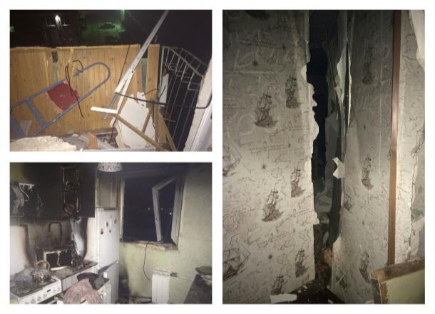 Появились фото из квартиры в Волжском, где прогремел взрыв
