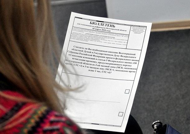 Волгоградцам показали, как выглядит бюллетень для мартовского референдума