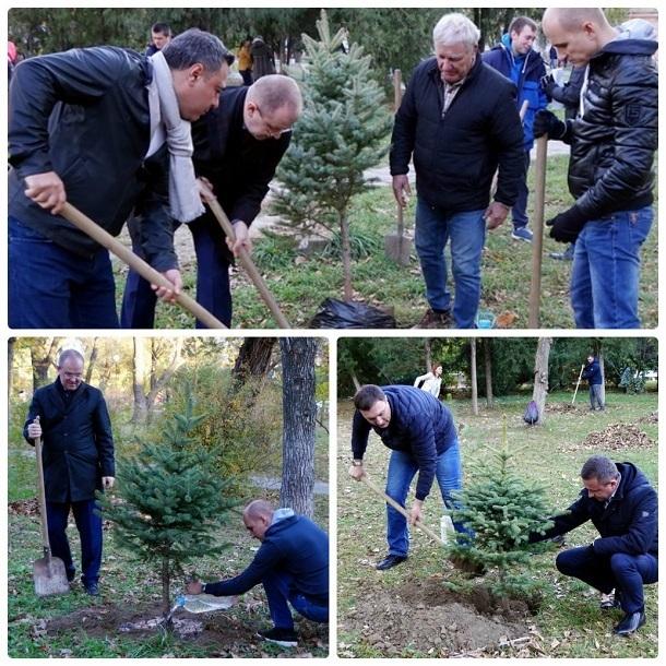 Депутаты Волгоградской облдумы в дорогих туфлях вышли копать землю