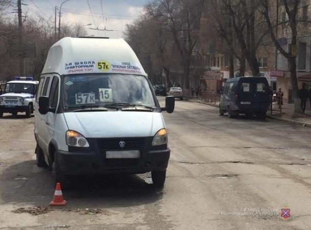 Водитель маршрутки № 57К сбил женщину на севере Волгограда