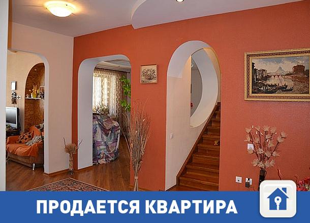 Продается эксклюзивная двухуровневая 4-комнатная квартира