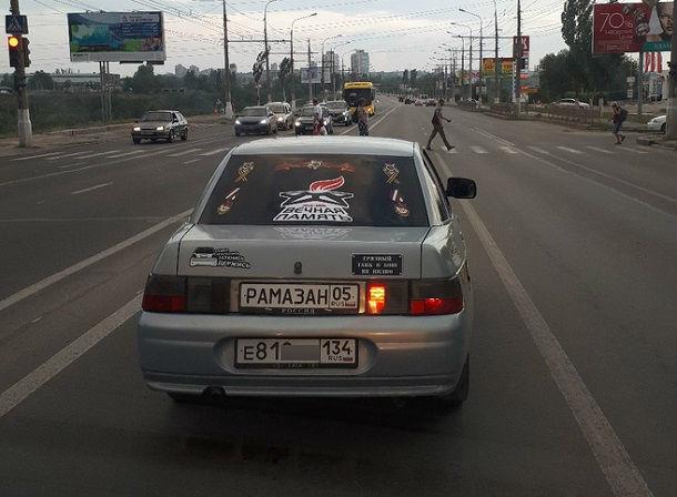Волгоградского гонщика с двойными номерами сфотографировали очевидцы