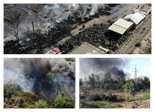 Публикуем страшные кадры пожара в Волжском